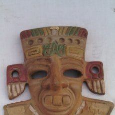Artesanía: MASCARA CARETA ARTE PRECOLOMBINO AZTECA MEXICO.. Lote 75002414