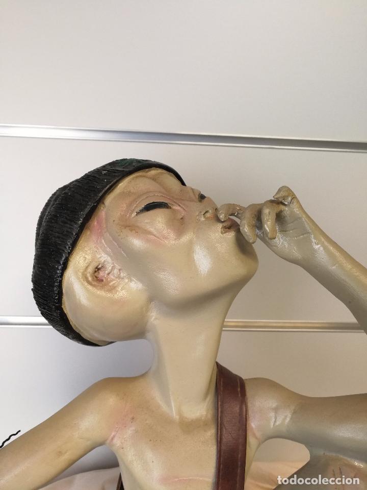Artesanía: FIGURA ESTATUA EXTRATERRESTRE FUMANDO SMOKING ALIEN - Foto 2 - 75933339