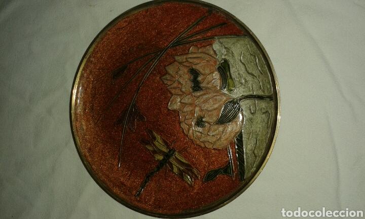 PLATO DE METAL DECORADO ARTESANAL (Artesanía - Hogar y Decoración)