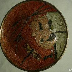 Artesanía: PLATO DE METAL DECORADO ARTESANAL. Lote 171599830