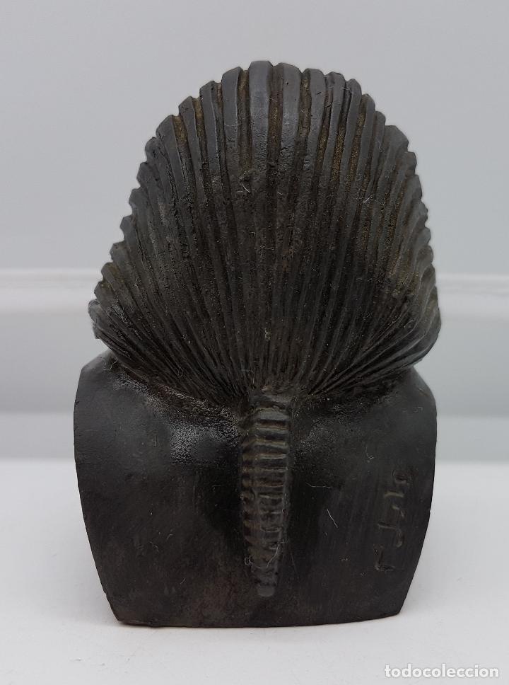 Artesanía: Busto pisapapeles faraónico en símil de piedra caliza - Foto 3 - 78424501