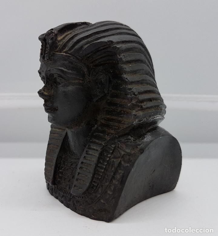 Artesanía: Busto pisapapeles faraónico en símil de piedra caliza - Foto 4 - 78424501