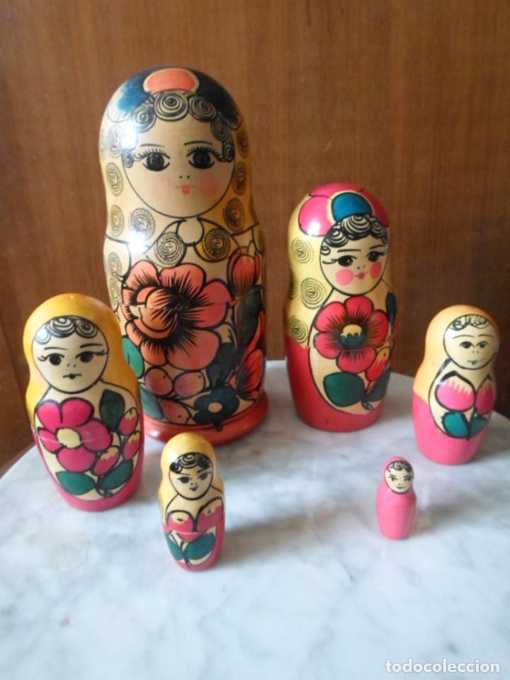 MATRIOSKA DE SEIS PIEZAS - MADE IN URSS (Artesanía - Hogar y Decoración)