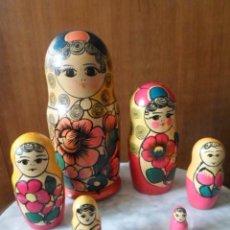 Artesanía: MATRIOSKA DE SEIS PIEZAS - MADE IN URSS. Lote 79865281