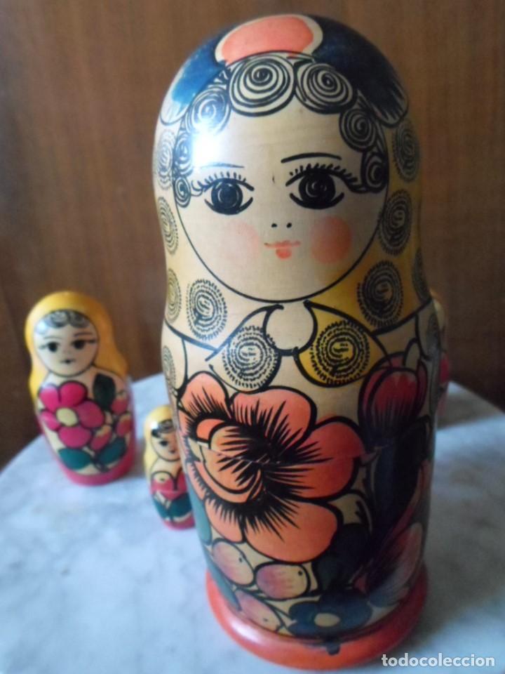 Artesanía: MATRIOSKA DE SEIS PIEZAS - MADE IN URSS - Foto 2 - 79865281