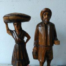 Artesanía: ESCULTURAS TALLADAS EN MADERA MARIÑEIRO Y PEIXEIRA DECORACIÓN. Lote 83598484