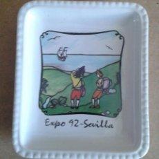 Artesanía: EXPO 92 SEVILLA 1992 BANDEJA DE PORCELANA. Lote 85461544