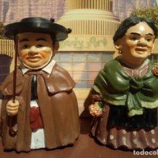 Artesanía: PAREJA DE GIGANTILLOS DE BURGOS. AYUNTAMIENTO DE BURGOS 100AÑOS DE FOLCLORE. 1992. Lote 85472684