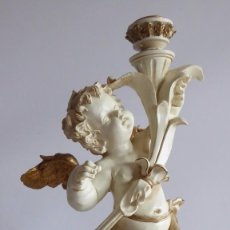 Artesanía: PRECIOSO ANGEL PORTAVELAS. Lote 86195620