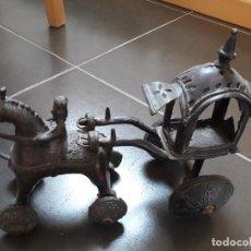 Artesanía: REPLICA CARRO ETRUSCO. EN METAL, UNOS 20 CM DE LARGO.. Lote 86383448