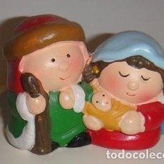 Artesanía: MINIATURA DE LA SAGRADA FAMILIA EN BARRO.. Lote 87509452