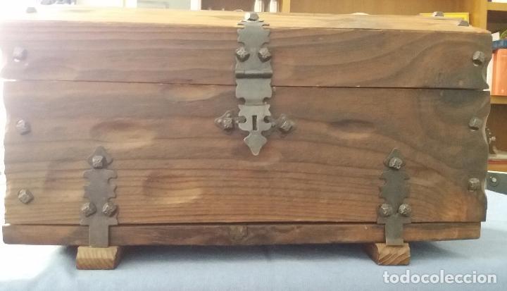 Cofre de madera decoraci n para albergar 3 bote comprar - Artesania y decoracion ...