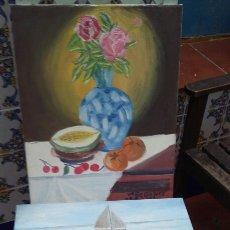 Artesanía: DOS CUADROS AL OLEO. Lote 94273793