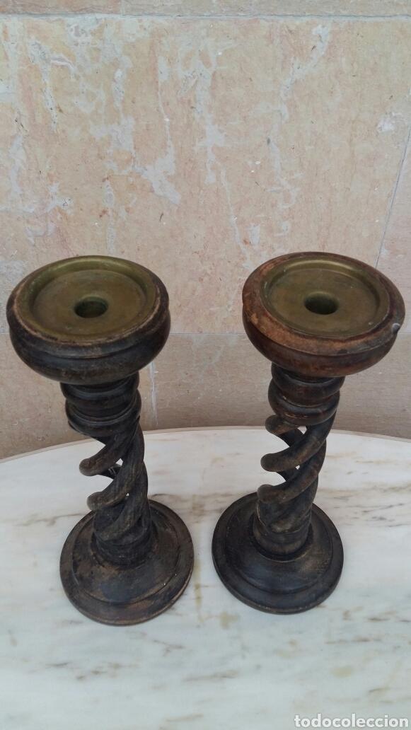 Artesanía: Candeleros de madera y latón - Foto 2 - 95615243