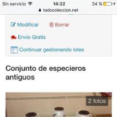 Artesanía: ESPECIEROS ANTIGUOS. Lote 96004651