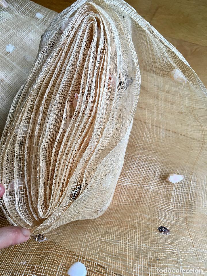 Tela forma de red con caracolas almejas para comprar - Formas de cortinas ...