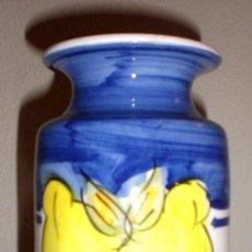 Artesanía: JARRÓN ARTESANAL MOTIVO MEMBRILLOS. Lote 98088799