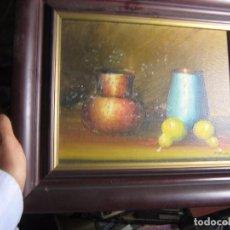 Artesanía: PINTURA ORIGINAL AL OLEO BODEGON FIRMADO. Lote 99568287