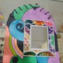 Artesanía: PIZARRA DECORATIVA (MODELO VIDRIERA). Lote 104201495