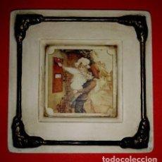 Artesanía: CUADRO VINTAGE DE 20 X 20 CM. DECORACIÓN DE PAREDES. Lote 104611311