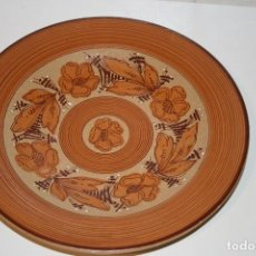 Artesanía: PLATO DE CERÁMICA DE MANISES DE MORA. FIRMADO Y NUMERADO.. Lote 114115935