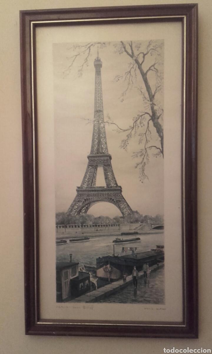 PARIS , EL RIO SENA Y LA TORRE EIFFEL DE FONDO (Artesanía - Hogar y Decoración)