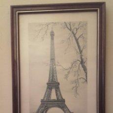 Artesanía: PARIS , EL RIO SENA Y LA TORRE EIFFEL DE FONDO. Lote 114817038