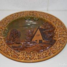 Artesanía: PLATO DECORATIVO DE CERÁMICA. DIÁMETRO 34,5 CM.. Lote 114848023
