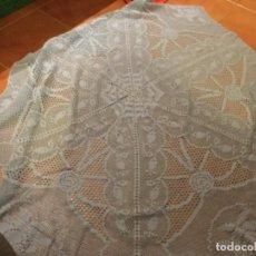 Artesanía: MANTEL GANCHILLO AZUL. Lote 115341791