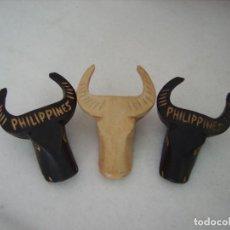 Artesanía: ANTIGUOS SERVILLETEROS TRAÍDOS DE FILIPINAS, TALLADOS EN MADERA. Lote 115448287
