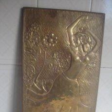 Artesanía: CUADRO / LÁMINA DE LATÓN REPUJADO. BAILARINA. HECHO EN MARRUECOS. 40 X 23 CM. Lote 115450383