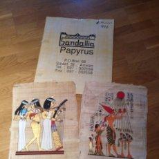 Artesanía: LOTE 2 PAPIRO EGIPCIO PINTADO A MANO. TÉCNICA ARTESANAL PAPIRO EGIPCIO.. Lote 171151582