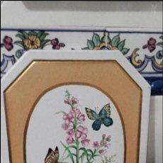 Artesanía: BALDOSA GRANDE PINTADA A MANO. Lote 116726459