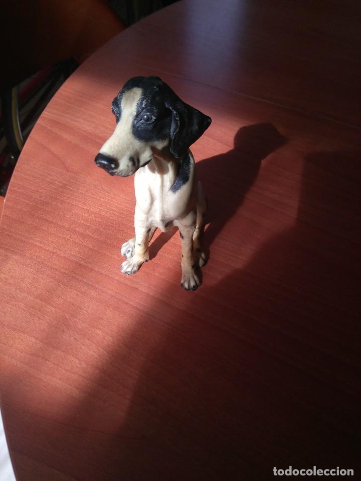 Artesanía: Antigua figura de perro de caza años 50 - Foto 2 - 191672665