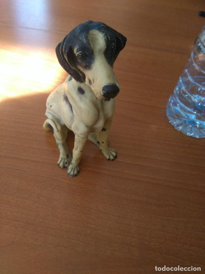 Artesanía: Antigua figura de perro de caza años 50 - Foto 3 - 191672665