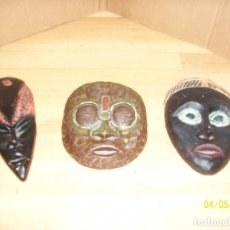 Artigianato: LOTE DE 3 MASCARAS AFRICANAS. Lote 117219371