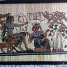 Artesanía: PAPIRO DE EGIPTO, FIRMADO.. Lote 118113163