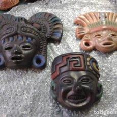 Artesanía: MASCARAS CERAMICA MEXICO AZTECAS ANTIGUAS. Lote 121070635