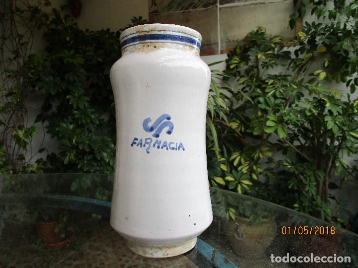 Artesanía: TARRO DE FARMACIA - CERÁMICA DE TALAVERA - ALTO 25 CM. ANCHO 12 CM. - Foto 2 - 122538351