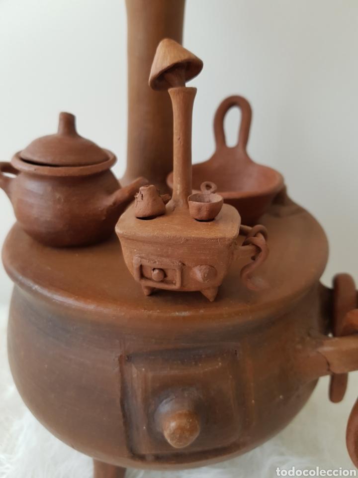 Antigua Cocina De Barro Artesanía Chilena