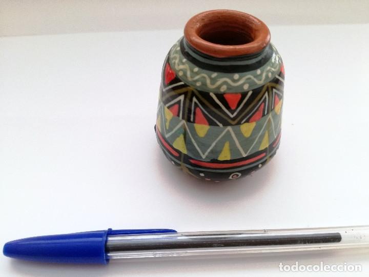 Artesanía: Pequeño jarrón arte de sudamerica - Foto 3 - 124386443