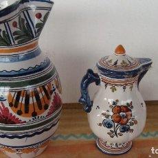 Artesanía: TRES JARRONES DE TALAVERA. Lote 125431547