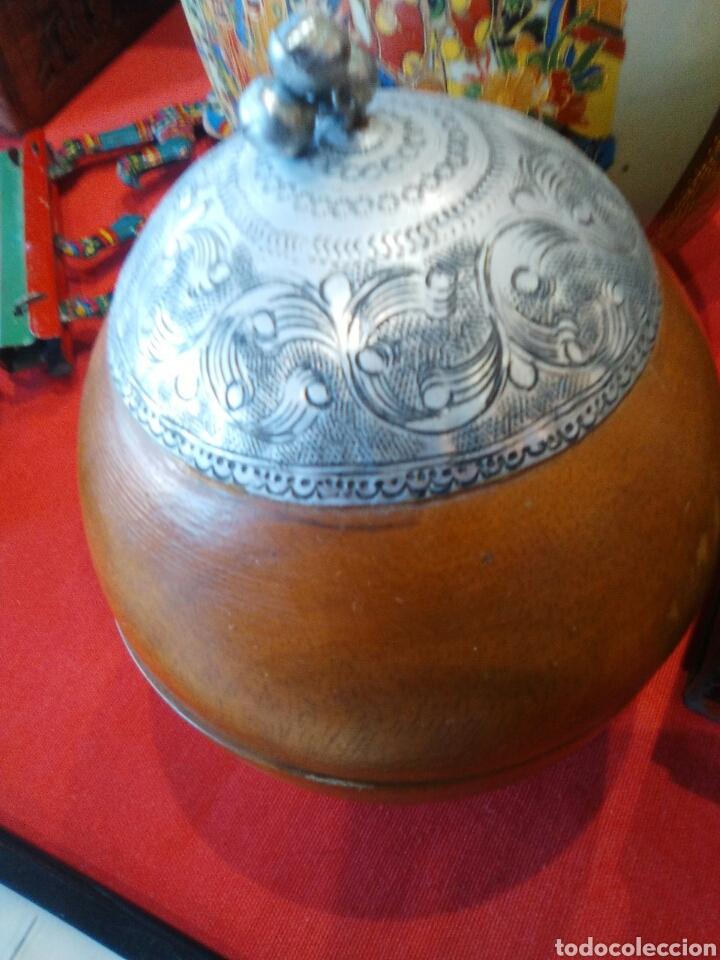 Artesanía: Cajita forma madera y metal ..muy original - Foto 2 - 126118812