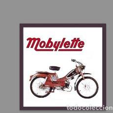 Artesanía: AZULEJO 10X10 CON MOBYLETTE . Lote 126283963
