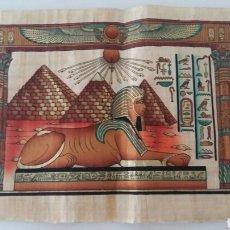 Artesanía: PAPIRO EGIPCIO DE GRAN FORMATO. Lote 126370664