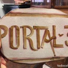 Artesanía: PLACA CERAMICA REALIZADA A MANO PARA PORTAL DE CASA - MEDIDA 30X19 CM -. Lote 126390991
