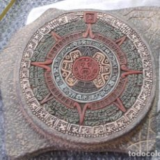 Artesanía: CALENDARIO AZTECA O PIEDRA DEL SOL CERAMICA HECHO EN MEXICO. Lote 121071847