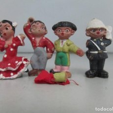 Artesanía: FIGURITAS DE BARRO DE TERRACOTA. TIENEN PARTES ROTAS. Lote 129196355