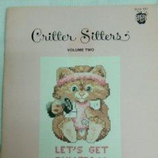 Artesanía: REVISTA CRITTER SITTERS.1985. PUNTO DE CRUZ.11 ANIMALITOS. Lote 131073031