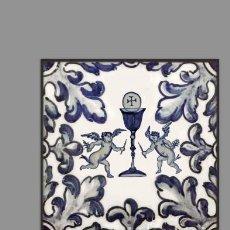 Artesanía: AZULEJO 10X10 CON MOTIVO EUCARISTICO. Lote 131148392